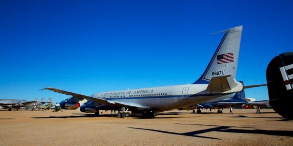 "Boeing VC137B in ""Jackie Kennedy"" paint scheme"