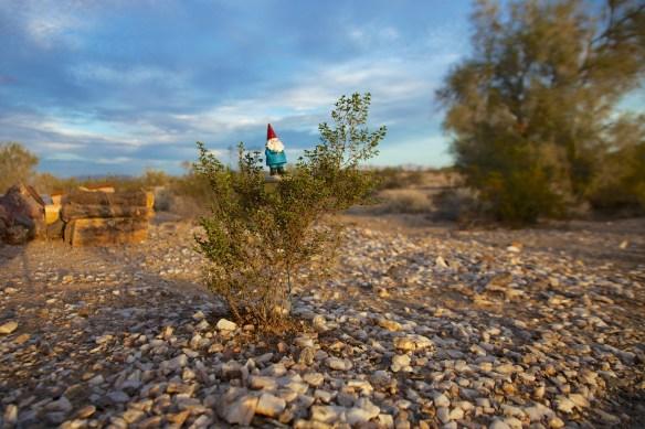 The Travelocity Gnome … campsite protector !