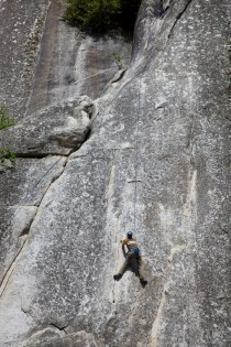 Climber on a practice wall