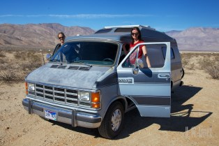Drea and Leigh stealing Tim's van