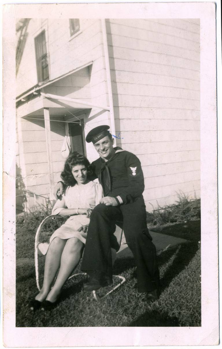 High school sweethearts Jim Hickey and Rosie Bonavita were married June 4, 1944, during a short leave from his service in the U.S. Navy.