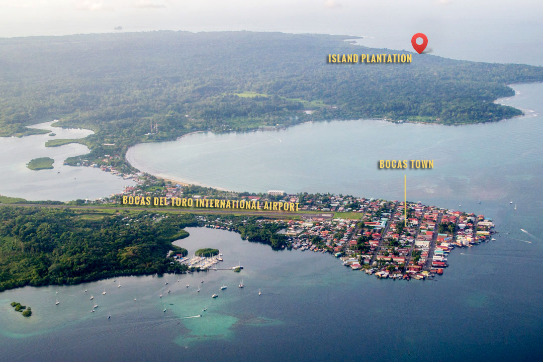 Image result for aerial view of isla colon, panama