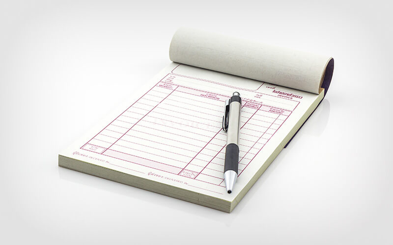 A Tax Invoice Book