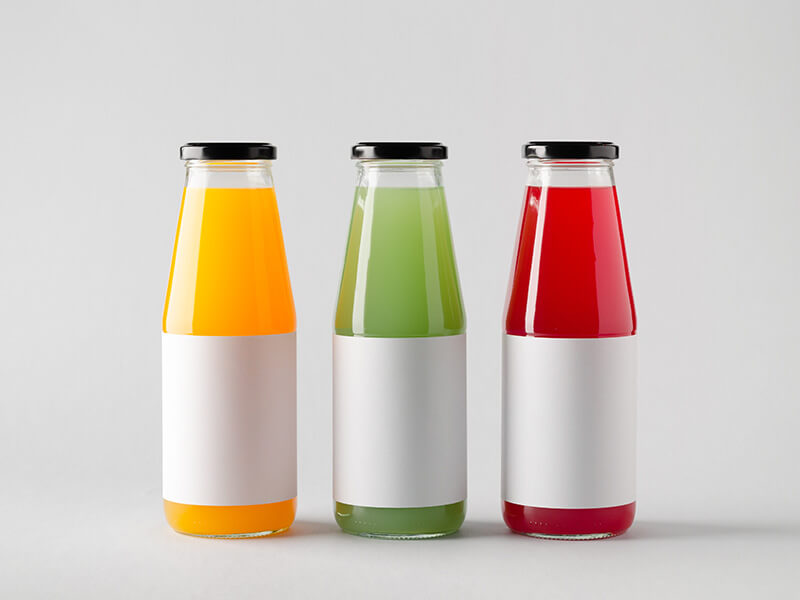 Three Bottles With Blank Stickers
