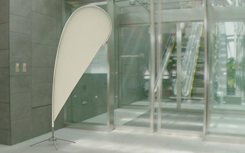 A Single Blank Teardrop Flag