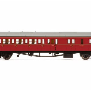 Hornby BR, Collett 'Bow-Ended' Corridor Brake Third Class RH, W4935W, Maroon - Era 5