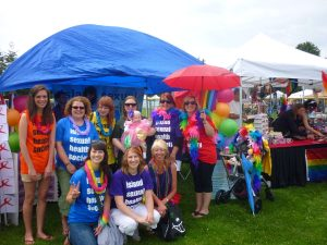 Group Photograph of Island Sexual Health staff at Victoria Pride Festival 2011