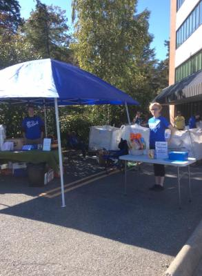 Some of the *amazing* UVic Project Serve Volunteers helping with our 1st ever bottle drive!