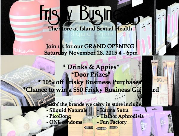 Frisky Business Online Promo Card