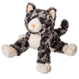 front view of fabfuzz granite kitten stuffed animal by mary meyer toys