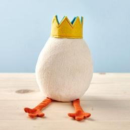 front view of the small plush idea egg