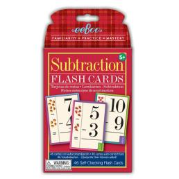 subtraction flash cards by eeboo