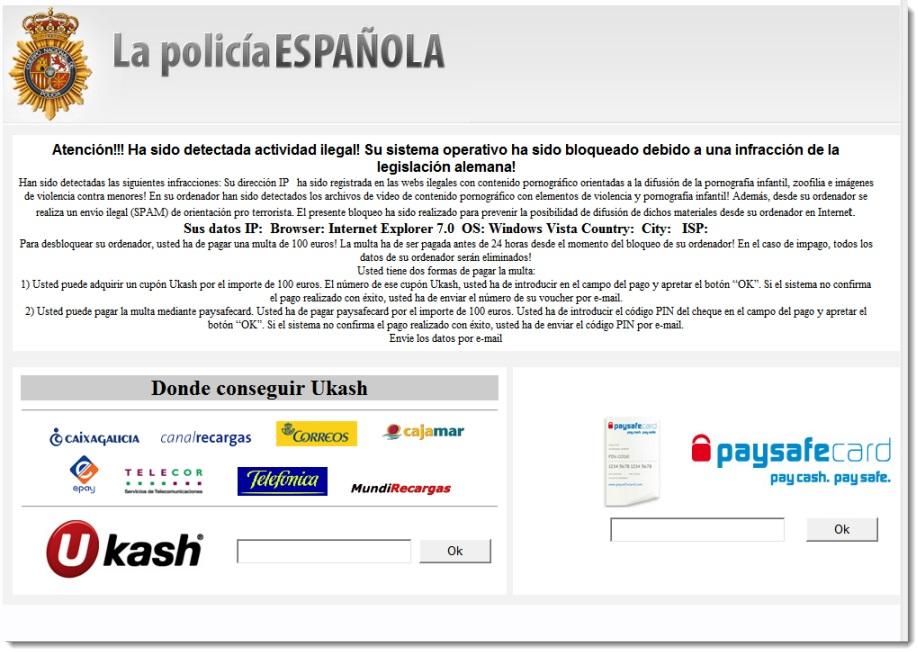 Policia Nacional - Ransomware