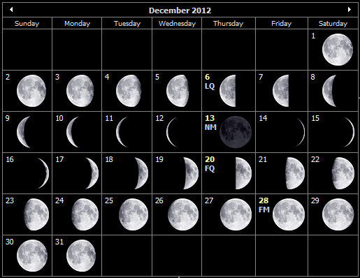 2007 calendar december
