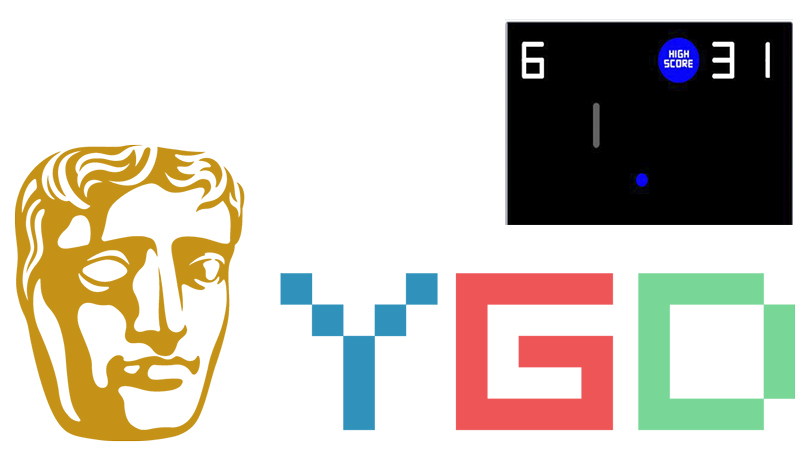 A graphic showing the BAFTA Young Designer Awards logo and a screenshot of the student's game in the top right corner.