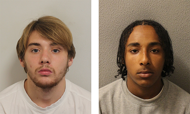 Jailed: Dillon Zambon and Jhon Berhane