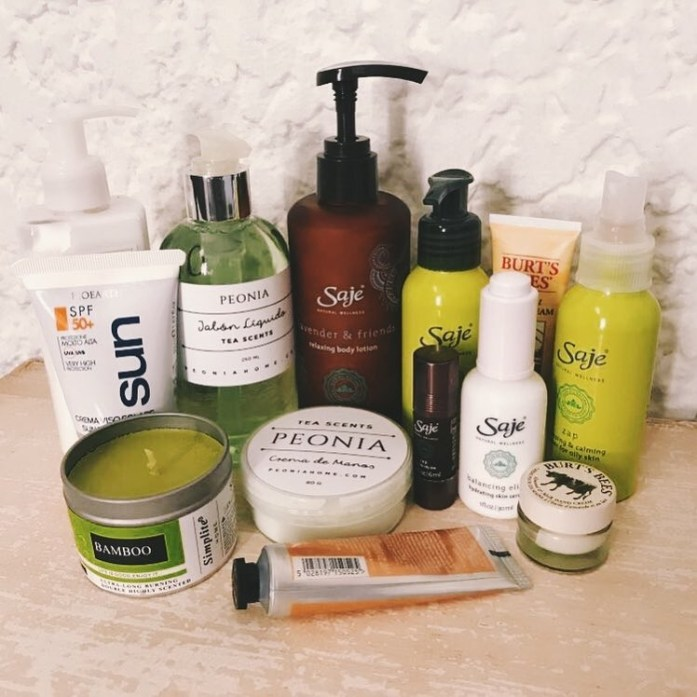 Current eco beauty essentials