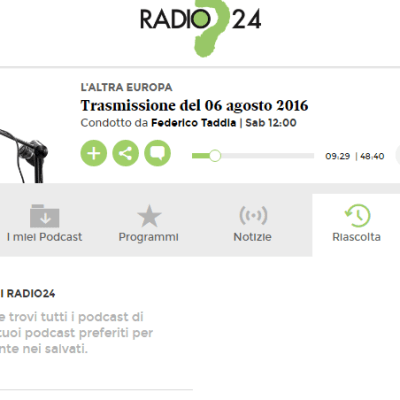 Interview RADIO 24
