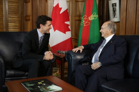 Image result for justin trudeau and aga khan
