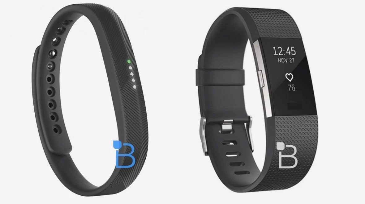 These are the Fitbit Charge 2 and Fitbit Flex 2