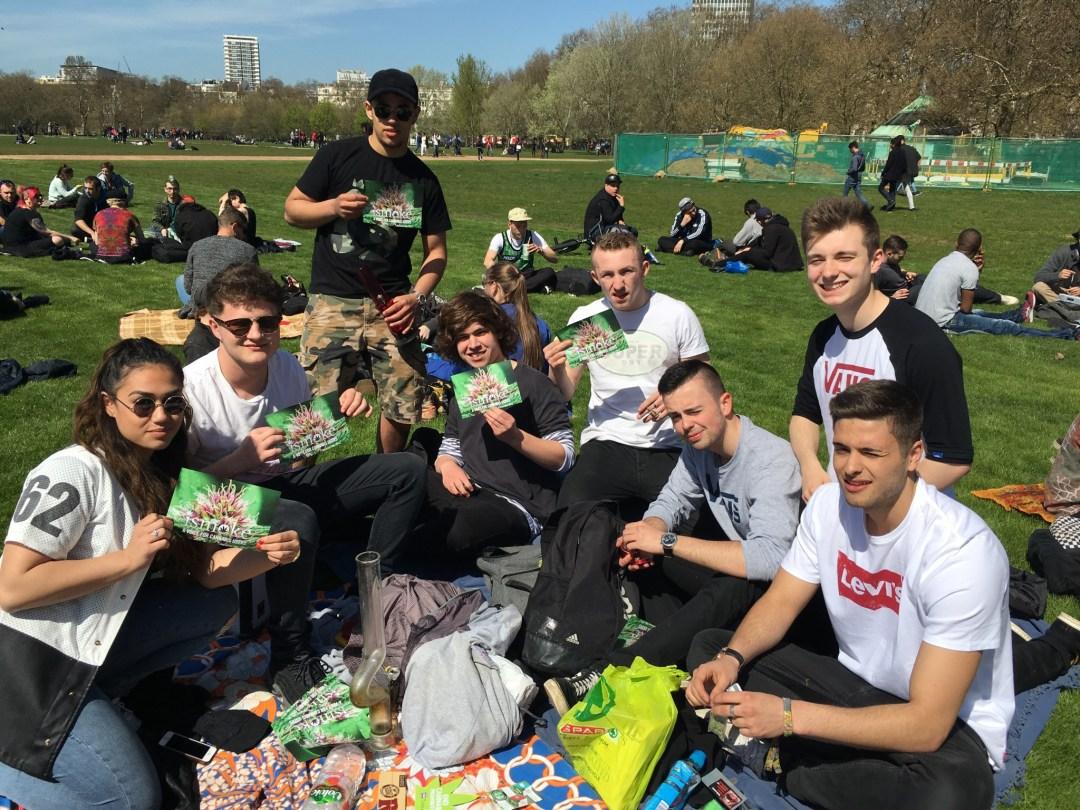 , 4/20 2016 in Hyde Park London