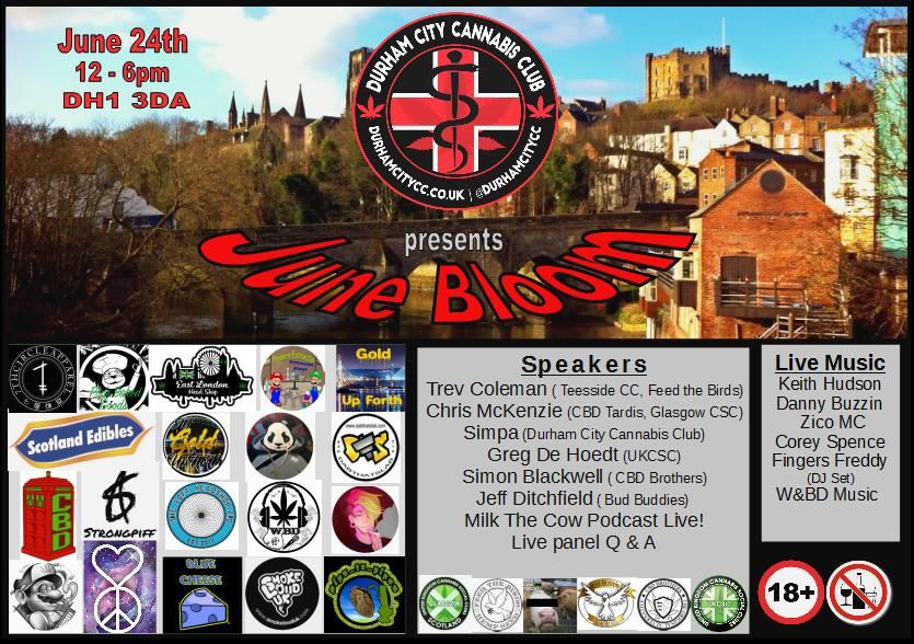, Durham City Cannabis Club June Bloom Event 2017, ISMOKE