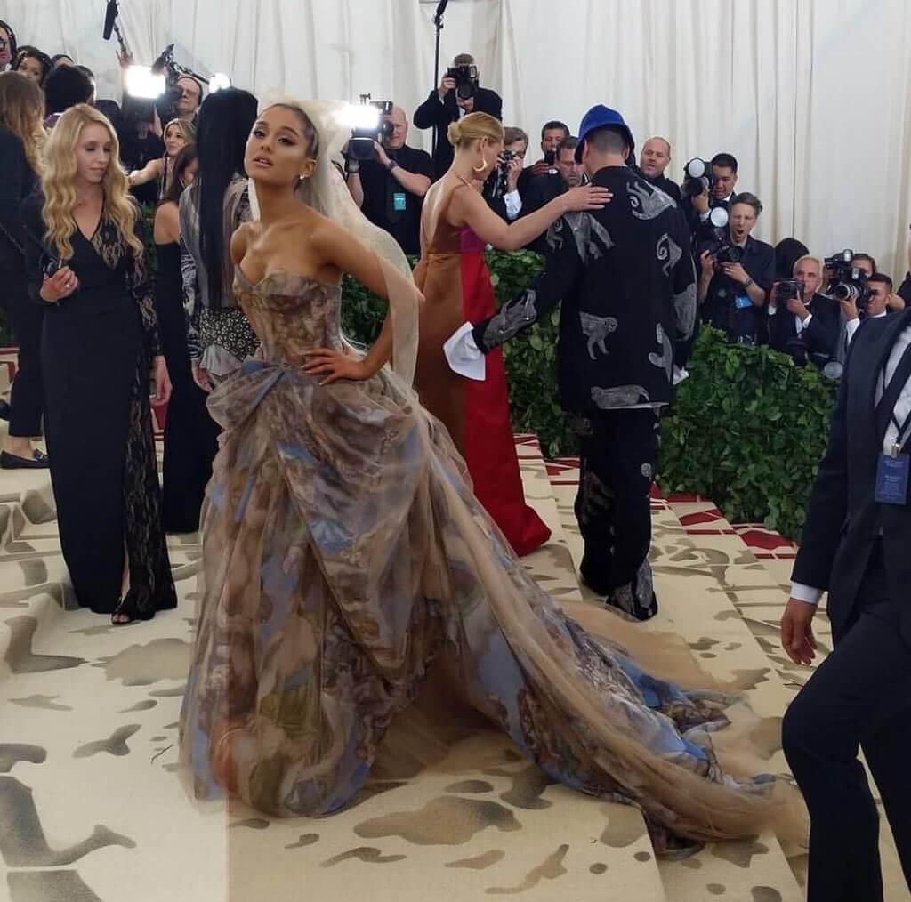 Ariana Grande en la Met Gala 2018. Fotografía: Getty