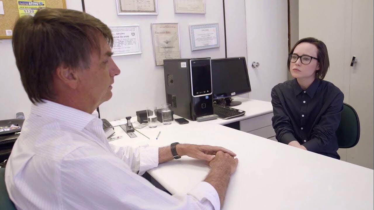 Las 11 mejores citas del tenso encuentro entre Ellen Page y Jair Bolsonaro en Brasil