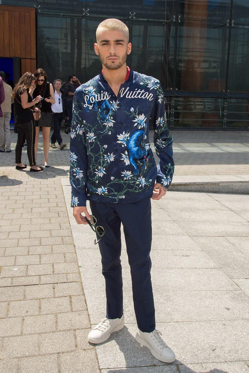 Zayn Malik en el Louis Vuitton Spring/Summer 2016 Menswear Catwalk Show. Fotografía: Stephane Cardinale - Corbis