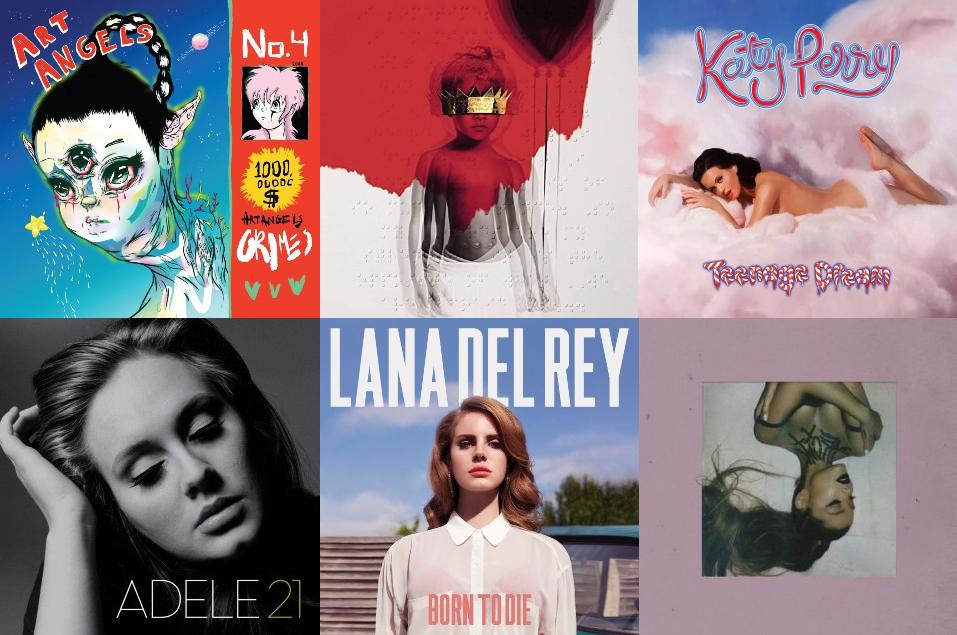 10 albums que definieron el pop de los 2010's
