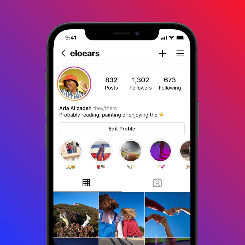 Instagram ahora te permite ingresar tu pronombre en el área destacada de la biografía
