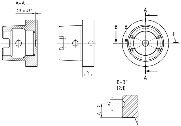ISO 12164-1:2001(en), Hollow taper interface with flange