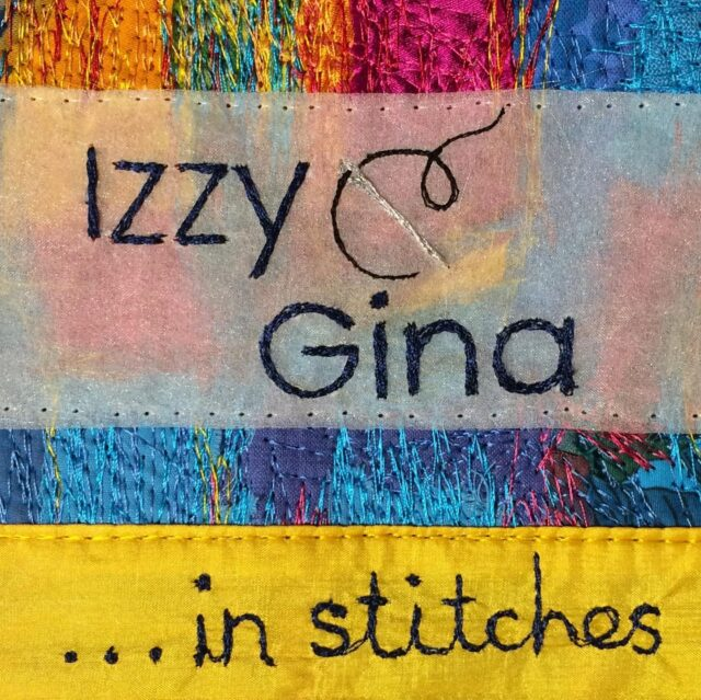 Getting closer! Getting real 😅!   If you click on my links thingy in my bio, I've added a NEW link straight to the NEW podcast with @gina_ferrari_art ! There, I've said it!!  #izzyandginainstitchespodcast #izzyandginainstitches
