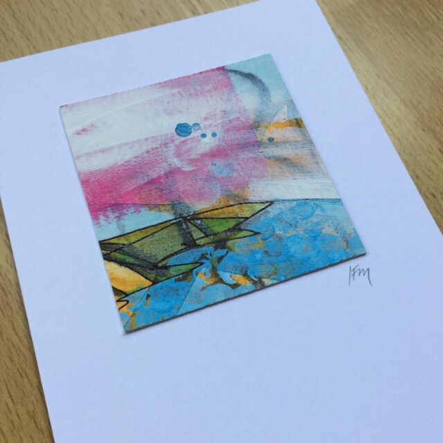 Mothers' Day card sorted from one of last year's Find Your Joy samples! Looking through everything with a viewfinder, I found this little landscape. Perfect for step-mum in lockdown near the Ceredigion coast, Wales.  #ceredigioncoast
