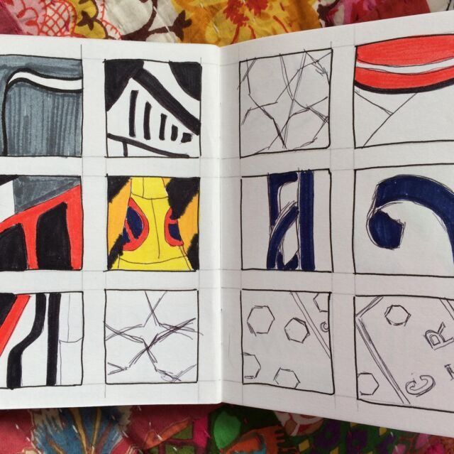 Still on the sketchbooks! Drawings from within a 5 minute walk of home, in a different direction to the usual fields.