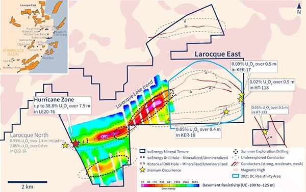 Figure 3 - Larocque East Exploration Drilling Areas