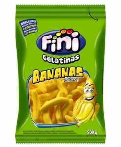 Balas de Gelatina Banana 500g - Fini