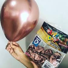 Balão Alumínio n°16 Happy Day Bronze c/ 25 unidades