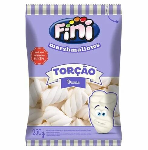 Marshmallows Torção Branco 250g - Fini