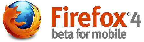 Firefox 4 beta mobile - logo
