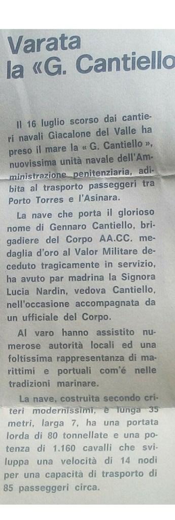 articolo varo Cantiello
