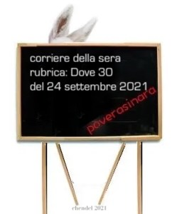 """Il """"Corriere della Sera"""" dietro la lavagna."""