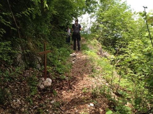 Il sentiero nel quale si trovava Patrik