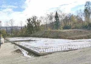 Nuova scuola media, la piastra dove sarà realizzata la scuola.