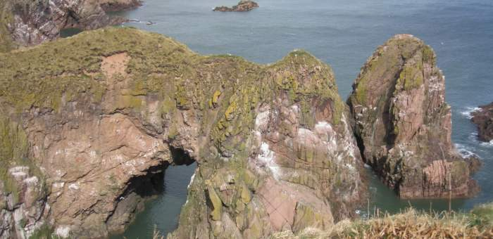 Bullers of Buchan cliff arche