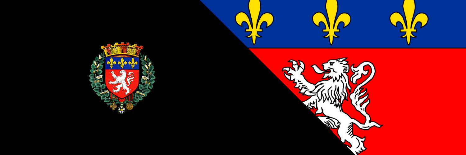 Lyon coat of arms and flag crest