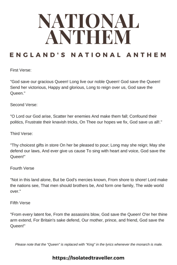 England National Anthem