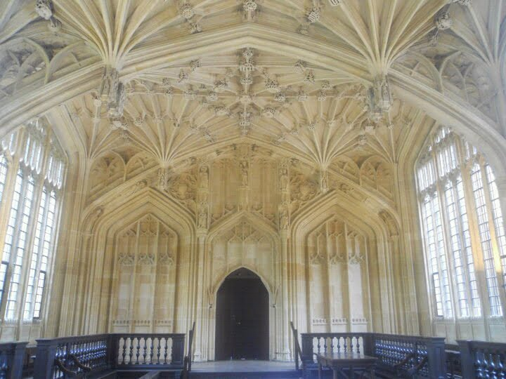 Bodleian Library Interior in Oxford