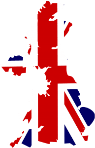United Kingdom Map Union Jack