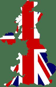 United Kingdom Map Union Jack